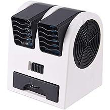 JiaMeng Ventilador de Mesa Potente y Silencioso Ventilador Turbo Mini Ventilador de Escritorio de Doble Puerto