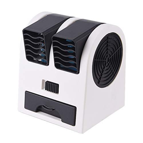 JiaMeng Ventilador de Mesa Potente y Silencioso Ventilador Turbo Mini Ventilador de Escritorio de Doble Puerto con refrigeración sin Hojas y silencioso Fragancia portátil USB