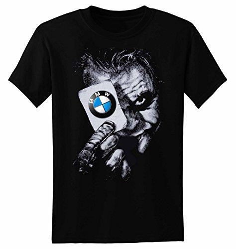 Herren T-Shirt Joker BMW Card Kurzarm S-2XL Schwarz