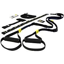 TRX Entrenamiento–Go Kit de suspension Trainer, la más ligero y más pequeña Suspension Trainer–perfecto para viajes y para entrenar en interiores y exteriores (Negro)