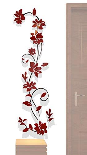 3D Rattan Blume Wandtattoos für Wohnzimmer Schlafzimmer Sofa Hintergrund TV-Wand Hintergrund, Originalität Aufkleber Geschenk, wiederablösbare Decor Aufkleber Aufkleber -