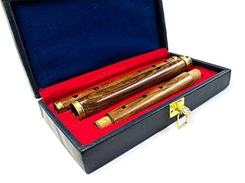 Traditionelle irische prokussion Palisander Flöte mit Fall
