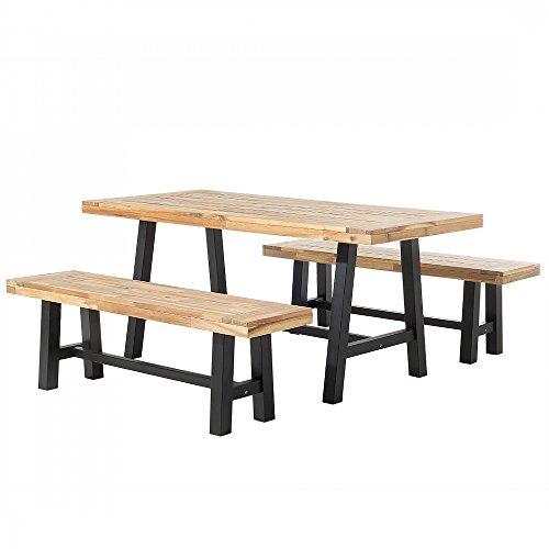 Gartenmobel Schwarz Braun Balkonmobel Terrassenmobel Holz