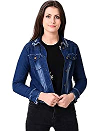 Rohan Fashion Hub Dark Crop Denim Jacket for Women