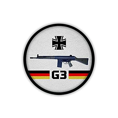 Patch / Aufnäher - G3 Gewehr Bundeswehr Waffe Sturmgewehr AGA 7,62mm NATO Standardgewehr Männer Bund Deutschland Grundausbildung #19557