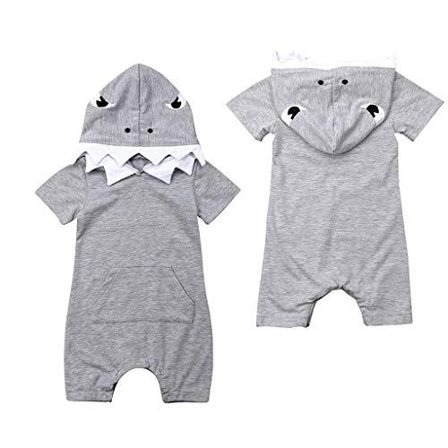 02c53fff905e3 KEERADS- Nouveau-né Bébé Garçon Infantile Enfant 3D Dessin Animé Requin  Impression Poche À