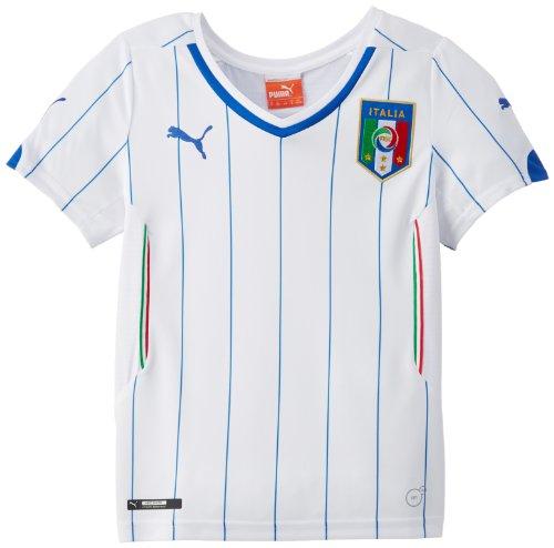 Puma Unisex - Kinder Auswärtstrikot FIGC Italia Replica, white, 140, 744297 02
