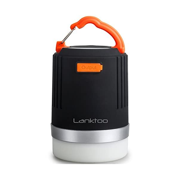 Lanktoo 2 in 1 Rechargeable Camping Lantern & Power Bank for Hiking Fishing Emergencies - Super Bright, Lightweight, Water Resistant. 1