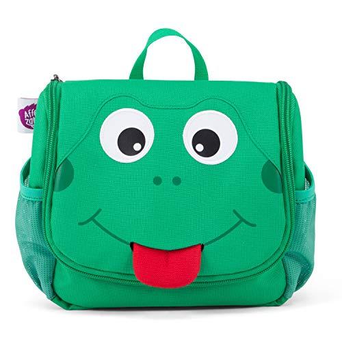 Affenzahn Kulturtasche für 1-3 Jährige Kinder im Kindergarten - Finn Frosch - Grün