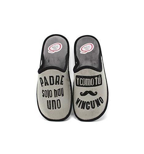 Se me ríen los pies - Zapatillas de casa Hombre Padre Solo Hay uno - Gris, 42