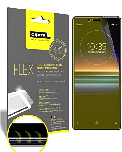 dipos I 2X Schutzfolie 100% passend für Sony Xperia 1 Folie I 3D Full Cover Displayschutzfolie