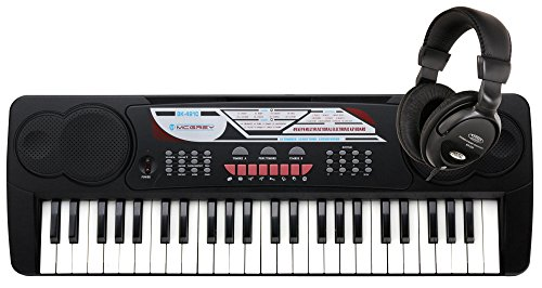 McGrey BK-4910 Beginner-Keyboard SET inkl. Kopfhörer (49 Tasten, 16 Klangfarben, 10 Rhythmen, 6 Demo Songs, Netzteil, Notenhalter, Mikrofon)