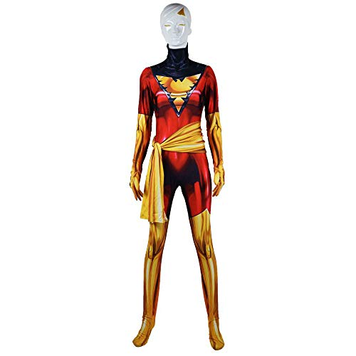 Xmen Mädchen Kostüm - YIWANGO X-Men Cosplay Kostüm Kind Erwachsene Phoenix Mädchen Siamesische Strumpfhosen 3D Digitaldruck Halloween Maskerade Superheld Set Film Anime Requisiten Onesies,Man-XXL
