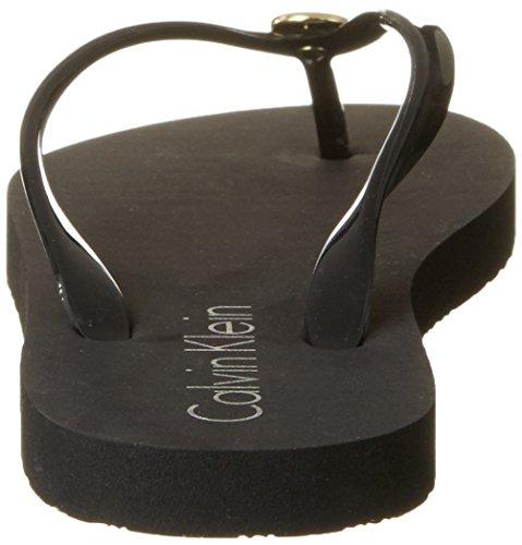 Calvin Klein Damen Ff Sandal Zehentrenner Schwarz (Black 001)