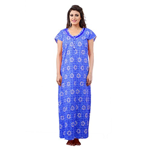 Farry Women Cotton Nighty, Gown, Sleepwear, Nightwear, Maxi - Soft and Stylish Night Suit, Cotton