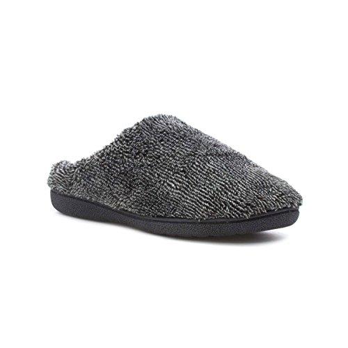 The Slipper Company - Mule molle grise Pantoufle de Mens Gris