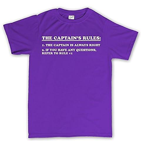 Customised_Perfection - T-Shirt - Imprimé - Col Ras Du Cou - Manches Courtes - Homme - Violet - XXX-Large