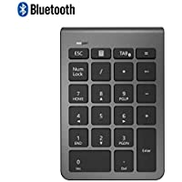 Alcey Bluetooth Numeric Keypad, Wireless 22 Keys Multi-Function Number Pad Keyboard Extensions for Laptop/Desktop/PCs/Notebook, Cool Gray