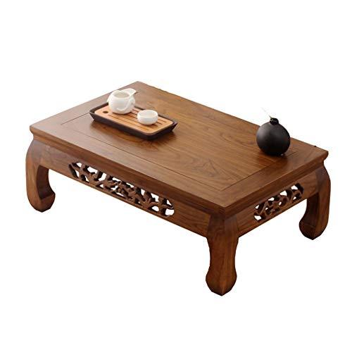QIN PING GUO Antiker Tisch aus Massivholz Tisch Couchtisch Erker Tisch Terrasse Balkon Teezeremonie Kleine Tabelle (größe : 62 * 42 * 25cm) -