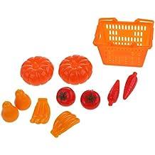 MagiDeal 11 Pezzi Shopping Cesta Frutta Verdura Negozi Accessori Per Barbie Bambola Plastico Multicolore