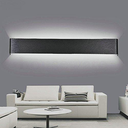SJMM Moderne 24cm lange AC85-265V 6W LED Wandleuchten für Wohnzimmer Badezimmer als Dekoration Wandleuchter Licht Lamparas wx292, Weiß, Weiß (5500-7000K)(#JD-1312)