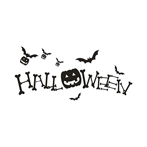 Wandaufkleber Happy Halloween Kürbis Knochen Wandaufkleber Fenster Dekoration Aufkleber Decor - Knochen Metall Spiegel