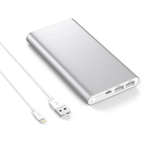 Poweradd Pilot 4GS 12000mAh Externer Akku iPhone Ladegerät mit Lightning Input Anschluss für iPhone 7, 7 plus, 6, 6 plus, 6s, 5, 5s, 5c (Power Pack 5c)