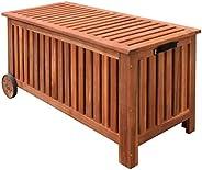 vidaXL Box per Cuscini Contenitore Stoccaggio Esterno Legno Acacia 118x52x58 cm