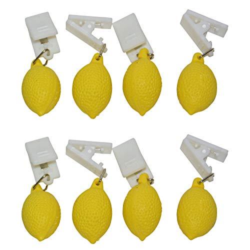 all-around24 Tischdeckenbeschwerer Tischtuchbeschwerer Tischdeckenklammer Tischdeckenhalter (8 Stück - Zitrone)