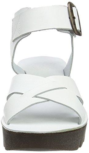 FLY London Yeri909, Sandales Compensées Femme Blanc Cassé (Off White 008)