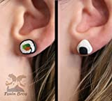 Sushi earrings: Maki or Niguiri. Made of polymer clay.