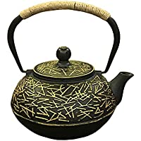 QINJLI Hierro fundido pote japonés tetera del arrabio tetera juego de té aguja del pino bote