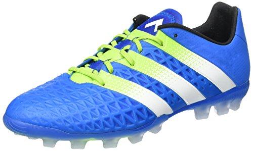 adidas Ace 16.1 AG, Baskets Basses Homme Bleu (Shock Blue/Semi Solar Slime/Ftwr White)
