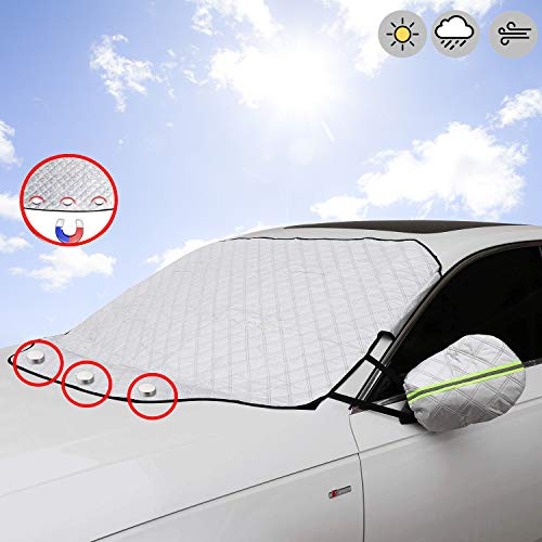 STYLINGCAR Sonnenschutz Auto Frontscheibenabdeckung Auto Windschutzscheibe Abdeckung Magnet (Autoabdeckung)