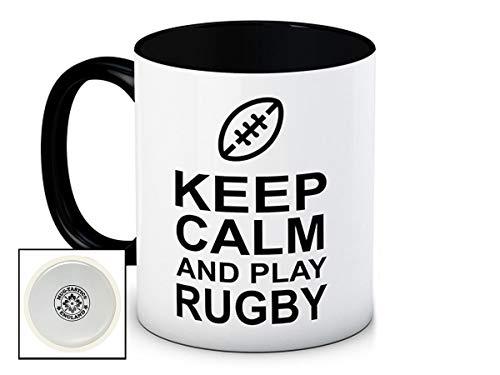 Keep Calm and Play Rugby - Haute Qualité Tasse de Café en Céramique
