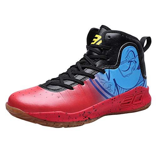 AIni Herren Schuhe,2019 Neuer Heißer Beiläufiges Mode Sale Sommer Atmungsaktive Basketballschuhe tragen Turnschuhe Schnürschuhe Turnschuhe Partyschuhe Freizeitschuhe(40,Rot)