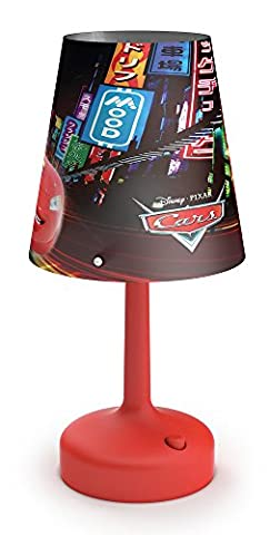 Philips Disney Cars Portable LED Children's Bedside and Table Lamp,