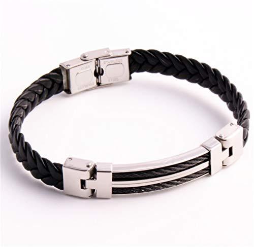 ELEGENCE-Z Herren Armband, Europa und Amerika Kreatives hochwertiges Titan Stahl Armband Cortex Paar Halloween Geburtstagsgeschenk A