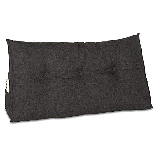 maxVitalis Rückenkissen, Bett-Rückenstütze Keilform, Rückenstützkissen, für Bett & Sofa, 100...