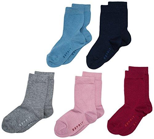 ESPRIT Mädchen Socken Solid Mix 5er Pack, Gr. 27-30, Mehrfarbig (sortiment 0010)