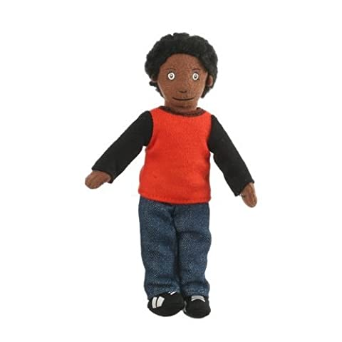The Puppet Company - Finger Puppets - Boy Dark Skin Tone
