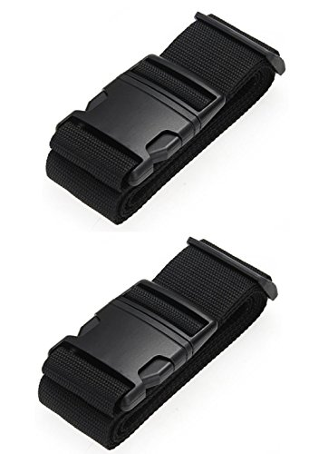 [Paquete de 2] Correas para Equipaje, Cinturones de la Maleta Personalizado, Accesorios de Viaje Negro - Correa de seguridad para equipaje Ajustable arco iris