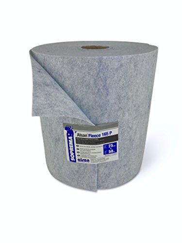 1 Rolle ALSAN Flashing Quadro - VLIES 0,20 x 50,0 Meter | blau eingefärbtes, gelochtes und mechanisch verfestigtes Spezialkunstfaservlies mit 165,0 g/m² Flächengewicht - als Armierungseinlage in Verbindung mit ALSAN Quadro* Flüssigkunststoff (*separat erhältlich) | während der Verarbeitung von ALSAN Quadro ermöglicht es eine Schichtdickenkontrolle und in der ausgehärteten Abdichtung hat es eine verstärkende und rissüberbrückende Wirkung Test