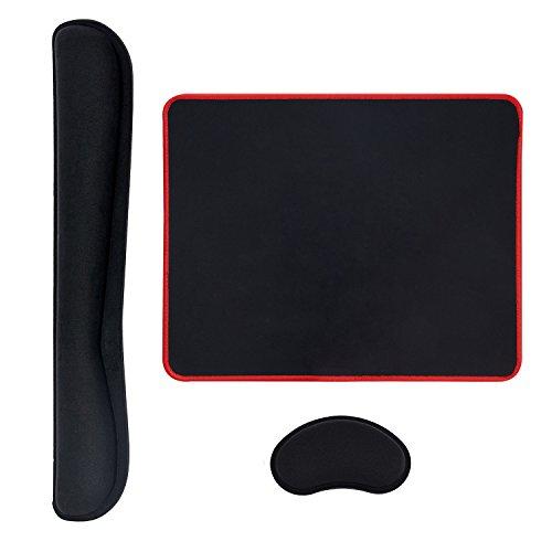GIM Mauspad Ergonomische Handballenauflage Memory Schaum Handgelenkauflage für Tastatur und Maus Handauflage Set Schwarz