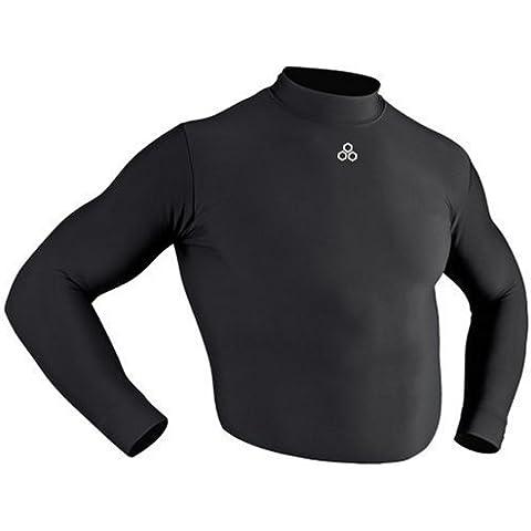 McDavid - Camiseta de fútbol sala para hombre, tamaño L, color negro
