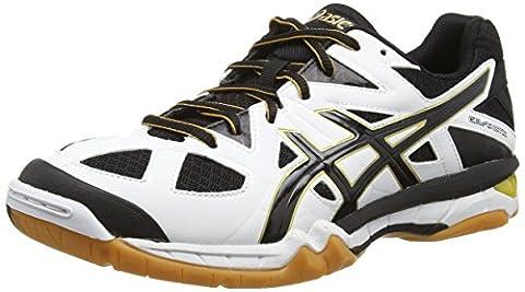 ASICS Gel-tactic, Herren Volleyballschuhe, Weiß (white/black/pale Gold 0190), 46.5