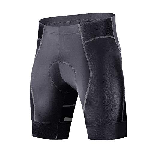 Cycorld Radsport-Gepolsterte-Shorts-Radhose-Fahrradhose für Herren (Aufgerüstetes Schwarz, XL(Taille:86.3-91.4,Beinbänder:45-47) cm)