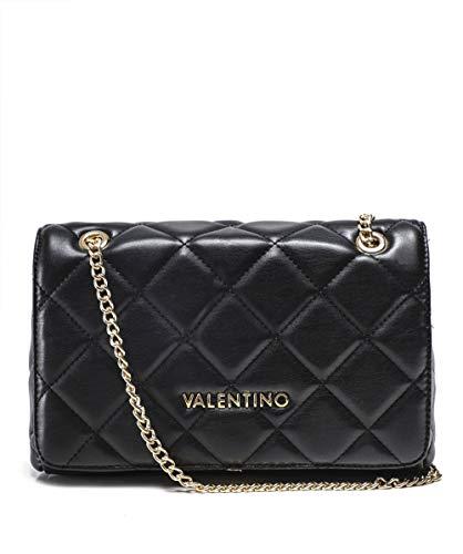 Mario Valentino Valentino by Damen Ocarina Umhängetasche, Schwarz (Nero), 9x17x25.5 cm - Gold-ton-hardware Lock