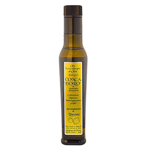 Lemon flavoured organic EV olive oil