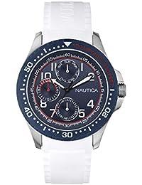 Nautica A13683G - Reloj de pulsera hombre, silicona, color Blanco